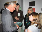 HRH Prince of Wales and CET Staff