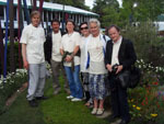 Staff and Clients at Chelsea Flower Show